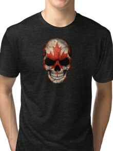 Canadian Flag Skull Tri-blend T-Shirt