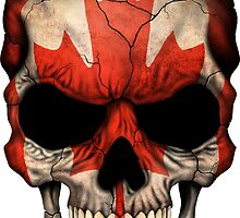 Canadian Flag Skull by Jeff Bartels