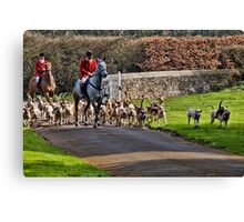 Horse & Hounds Canvas Print