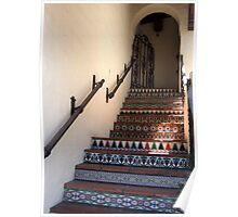 Tiled stairwell in Carmel Poster
