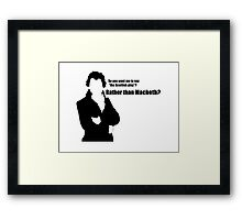 The Scottish Play Framed Print