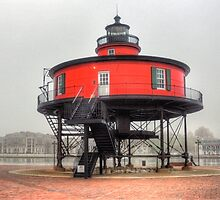 Seven Foot Knoll Lighthouse by Monte Morton