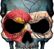 Colorado Flag Skull by Jeff Bartels