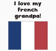 I Love My French Grandpa Kids Tee