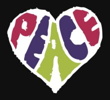 Peace Heart 2 Kids Tee
