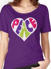 Peace Heart 2 Women's Relaxed Fit T-Shirt
