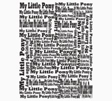 My Little Pony Typography by Eden51