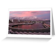 Ponta Delgada at dusk Greeting Card