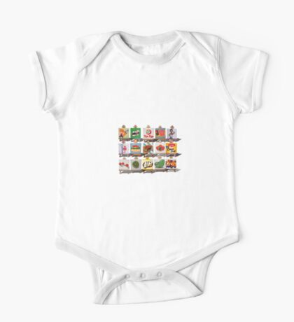 Kiwiana Food and Drink icons One Piece - Short Sleeve