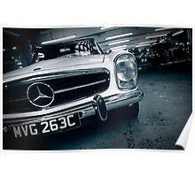 Benz Garage London Poster