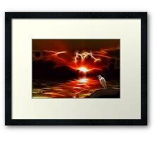 Sundown, All Is Well With My Soul Framed Print
