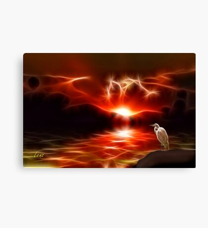 Sundown, All Is Well With My Soul Canvas Print