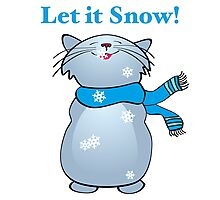 Let it Snow Cat Photographic Print