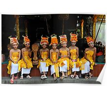 young dancers, bali Poster