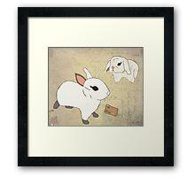 White Rabbits Framed Print