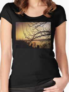 evening silence Women's Fitted Scoop T-Shirt