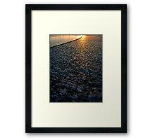 Sun on Stone Framed Print