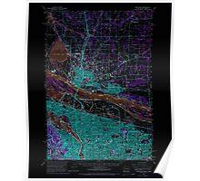 USGS Topo Map Oregon OR Portland 282802 1961 62500 Inverted Poster