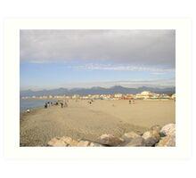 Sandy beach of Viareggio,Tuscany Art Print