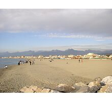 Sandy beach of Viareggio,Tuscany Photographic Print
