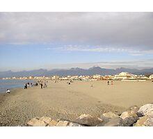 Sandy beach of Viareggio,Tuscany Photographic Print