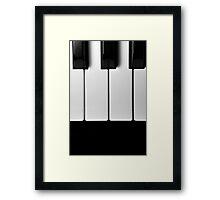 Piano Keys in Monochrome Framed Print