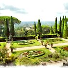 Castel Gandolfo: garden of the Villa Barberini by Giuseppe Cocco