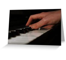 Piano Hands Greeting Card