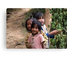 Hmong Girls Canvas Print
