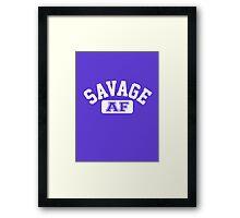SAVAGE - AF (Version 2) Framed Print
