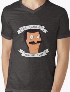 Oh Burger, You're Cute Mens V-Neck T-Shirt
