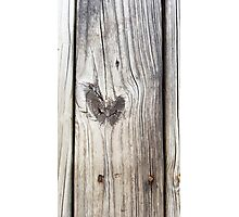 Love hear of wood Photographic Print