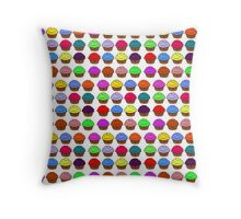 All the cupcakes Throw Pillow
