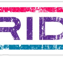 Bisexual Pride Banner Sticker