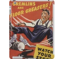 Gremlins Are Floor Greasers iPad Case/Skin