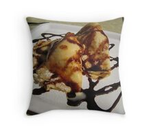 Pancakes in Budapest Throw Pillow