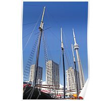 Masts and Towers - Toronto Ontario Poster
