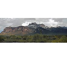 Superstitions after Snow, Rain and Hail Photographic Print