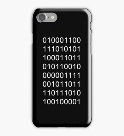 "Binary ""Fuck you!"" Ipod/phone case iPhone Case/Skin"