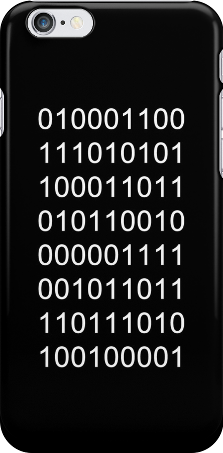 "Binary ""Fuck you!"" Ipod/phone case by kevinlartees"