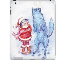 Catching snow iPad Case/Skin