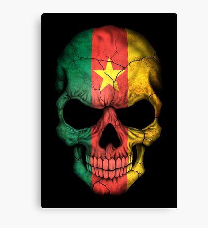 Cameroon Flag Skull Canvas Print