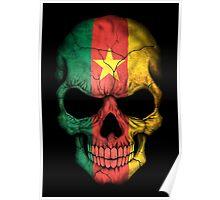 Cameroon Flag Skull Poster