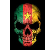 Cameroon Flag Skull Photographic Print