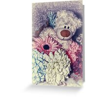 Teddy Loves Spring Greeting Card