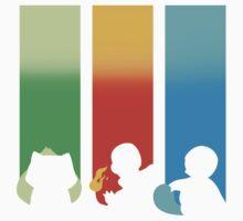 RGB: Bulbasaur, Charmander, Squirtle