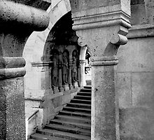 Fisherman's Bastion. On the Castle hill in Budapest. Hungary. Number 2 by Anatoly Lerner