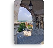 Fisherman's Bastion. On the Castle hill in Budapest. Hungary. Number 6 Canvas Print