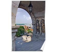 Fisherman's Bastion. On the Castle hill in Budapest. Hungary. Number 6 Poster