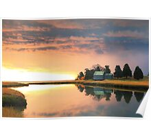 Clearing storm at sunrise, Nauset Marsh, Cape Cod Poster